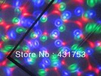 ( free shipping )( 2 years warranty )New E27 9W  3*3W  85V-265V/AC  Colorful Rotating RGB 3 LED Spot Light Bulb Lamp