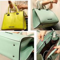 Woman Bags Fashion 2014 Designers Candy Color PU Leather Handbag Business Shoulder Bags Women Messenger Bags Travel Bags 8227