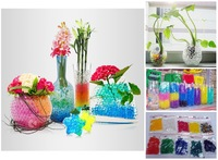 5g*10packs (10 colors) Crystal Soil Water Gel Balls Beads Wedding Decoration Center Piece,50g/lot