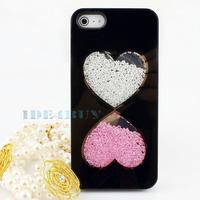 Luxury 3D Handmade Crystal Diamond Rhinestone Hard Case for iPhone 5 5G 1pc Free ship