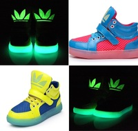 Kalanini 2014 Spring-Autumn Luminous Boys / Girls Children Shoes Kids Sneakers Basketball Running Children Boots