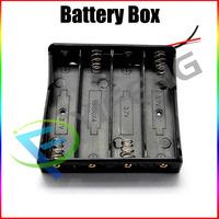Wholesale 5Pcs/Lot Black Plastic Battery Storage Case Box Holder for 4 x 18650 Free Shipping TK0057