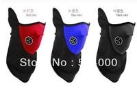 50pcs/lot Free Shipping Neoprene Neck Warm Half Face Mask Winter Veil For Sport Bike Bicycle Motorcycle Ski