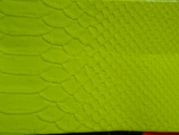 Synthetic PU leather material/fluorescence elastic snake/bright-coloured/yellow/red /blue/ nice colours in stock