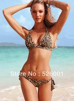 BS-3030 sexy lingerie leopard bikini brazilian bikini brand two piece bathing suit women women spa victorian shiny swimwear