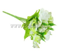 Free shipping!!!Artificial Flower Home Decoration,women fashion, Spun Silk, with Plastic, mixed colors, 20mm, Length:8.2 Inch