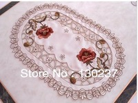 229 /  Rectangle and  Oval/ European embroidery placemat / 30cm*45cm /Cup mat