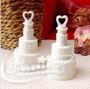 Free shipping 24pcs/lot White Wedding Cake Bubble Bottles soap water bubble bottles baby shower favors()