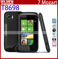 "Original Unlocked Brand 7 Mozart T8698 Windows Mobile Phone WIFI GPS 8MP Camera 3.7""Touchscreen Free Shipping"