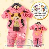2013 Hot!! Bee Baby Suit Children's Clothing Boy Girls Sport Suits 2color Can Choose,2pcs/set Free 3set/lot