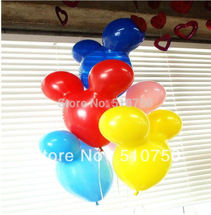 Classic Toys 30pcs Mickey Mouse Shape Balloon Animal Balloon Latex Balloons For Birthday Party Celebration Decoration(China (Mainland))