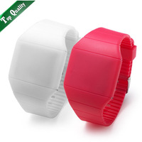 Gift enmex jelly touch screen fashion led watch, free shipping