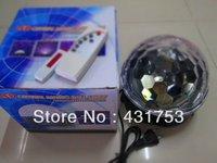 18W(3*6W) LED RGB  Crystal Magic Ball for USB can play music   100V-260V/AC ( free shipping )
