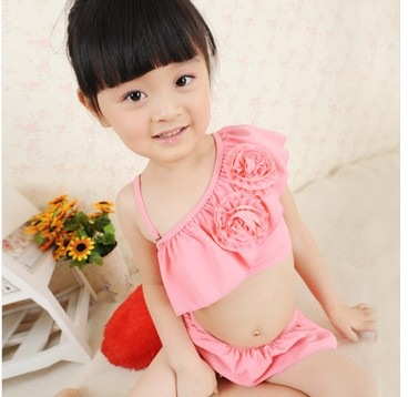 ... Baby Girl Bikini Swimsuit Hot Springs Lolita Child Split Swimsuit