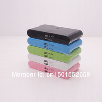5 color With retail packaging 2 usb port 20000mah External charger portable power bank Battery for iphone /ipad/samsung  10pcs