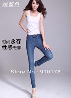 2013 fashion IDEE women jeans skinny slim pencil jean pants denim trousers blue size 26-31