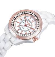 Free Shipping Beautiful Brand Luxury Clock Real Ceramic Bracelet Women Wristwatches Ladies Fashion wrist Quartz Dress Watches