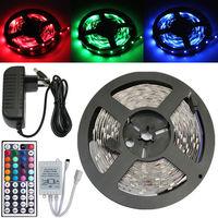 Mini Set 5050 RGB 150 LED SMD 5M 500CM Light Strip+44 Key IR+12V 2A Power Supply