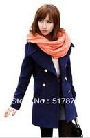 Woolen outerwear female medium-long slim woolen overcoat thick winter thickening wool coat