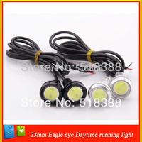 New DIY Car Parking Lights Eagle Eye Led Light 2.3cm 12V 3W Waterproof Eagle Eye LED Daytime Running Lights