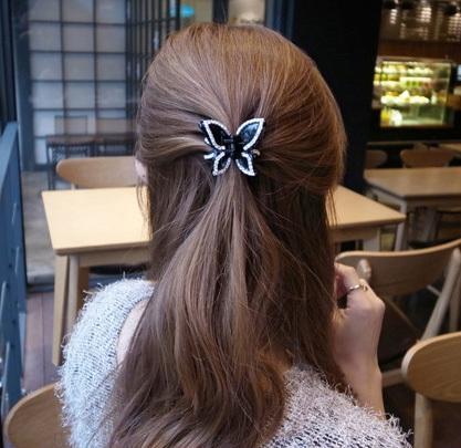 top nuovo arrivo strass accessori per capelli farfalla clip di capelli gioielli artigli sf156