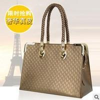 Free shipping 2013 new Luxury Genuine Leather handbag star knurling personal shoulder bag crossbody bag for women European style