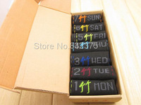 Hot sale! Bamboo fiber sock Creative fashion week Men socks everyday changing 7 pairs/lot Free shipping