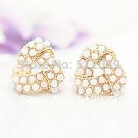 High Quality Stud Earring Anti-Allergic Earrings 18K Real Gold Plated Geometric Earring For Women Pearl Triangle Earring Jewelry