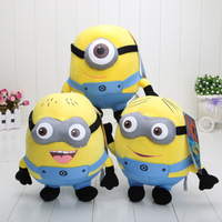 "Retail Despicable Me 2 10"" Despicable Me Minion Plush Doll toys 3D eyes"
