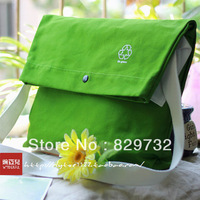 Free shipping New arrival small fresh canvas bag messenger bag shoulder bag green messenger bag large capacity