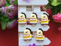 Free shipping 50 PCS/lot of DIY is very hot, kawaii resin flatback convex circular cartoon characters of ice cream