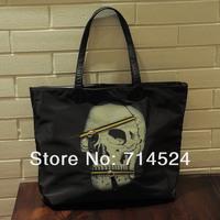FREE SHIPPING ! 2 in 1, 2013 HOT SALES European American Cool skull Fashiong Woman messerger bag ,shoulder big bag , retail
