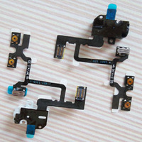 Headphone Audio jack flex cable for iphone 4 volume flex cable  Free shipping black and white