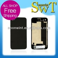 50% off Spare parts for iphone 4S back glass cover  rear cover  (with logo)  + shipped hide logo+ Free shipping+black and white