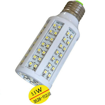 5pcs/lot Ultra bright 6W/9W/12W 3528 smd 112/168/240 leds Corn Light White/Warm White Lamp e27 led bulb 220v