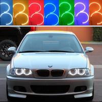 New E36 E38 E39   5050 42SMD RGB Flash SMD LED ANGEL EYES HALO RINGS kit for BMW 1 Set Free Shipping