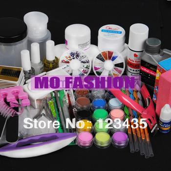 Free shipping 2013 new hot sale 18 Acrylic Powder Liquid KITS UV NAIL ART TIP Set A018