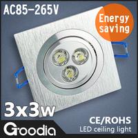 9W LED Ceiling Light 4PCS/Lot AC85~265V Cool Warm White CE&ROHS Kitchen Lamp Ceiling Lamp LED Recessed Light
