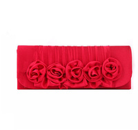 Free shipping retail mercerized cotton  flower ladies clutch evening bags/wedding bride  bags