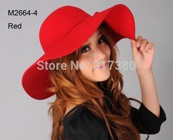 Wholesale 6pcs Women Winter Wide Brim Wool Hats Ladies Floppy Wool Felt Caps Bucket Hat Womens Autumn Fedora Cap Spring Cloche