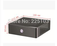 Pitfall mini-itx motherboard small computer case ion e350 htpc mini car pc itx computer case