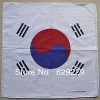 "South Korean national flag 100% Cotton hiphop rap bboy Bandana wrap scarf wristb Headband 22""*22"" Free Shipping"