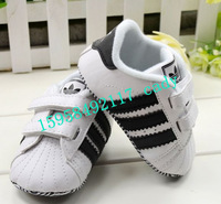 free shipping 2013 new design  wholesale newborn baby PU shoes plaid toddler autumn baby soft shoes first walkekr