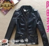 New Autumn fashion Women PU Leather High Quality Jackets classic Long sleeve zipper Casual Outerwear