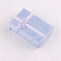 2013 New Elegant  Fashion Colorful Multicolored Square Jewelry Gift Box(Random mixed color)