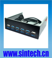 """Internal 20pin 5.25""""  Bay 4x USB 3.0+2x USB 2.0 front panel HUB with cable"""