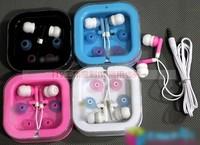 Free shipping 5 fashion candy earphones multicolour boxed in ear computer earplugs earmuffs b122