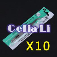 10PCS NAIL EYELASH curved TWEEZERS NIPPERS POINTED TOOL ART UV Gel Acrylic 1129