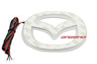 Free shipping Mazda M5 Rui wing 14.CM * 11CM  PVC LED  Tail Lights / Car Emblem Light /  Car LED Logo Light