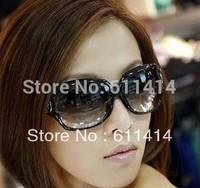 Free shipping the new hollow fashion sunglasses eyewear, big round sunglasses